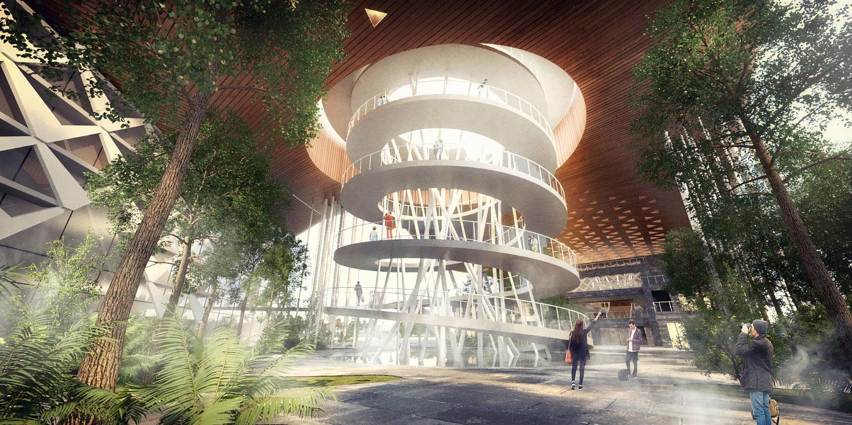 observation deck J.A.Chen Architects & Associates