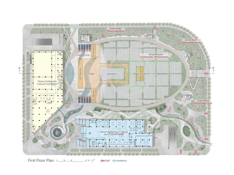 ground floor plan J.A.Chen Architects & Associates}