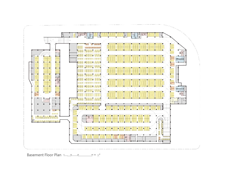 basement floor plan J.A.Chen Architects & Associates}