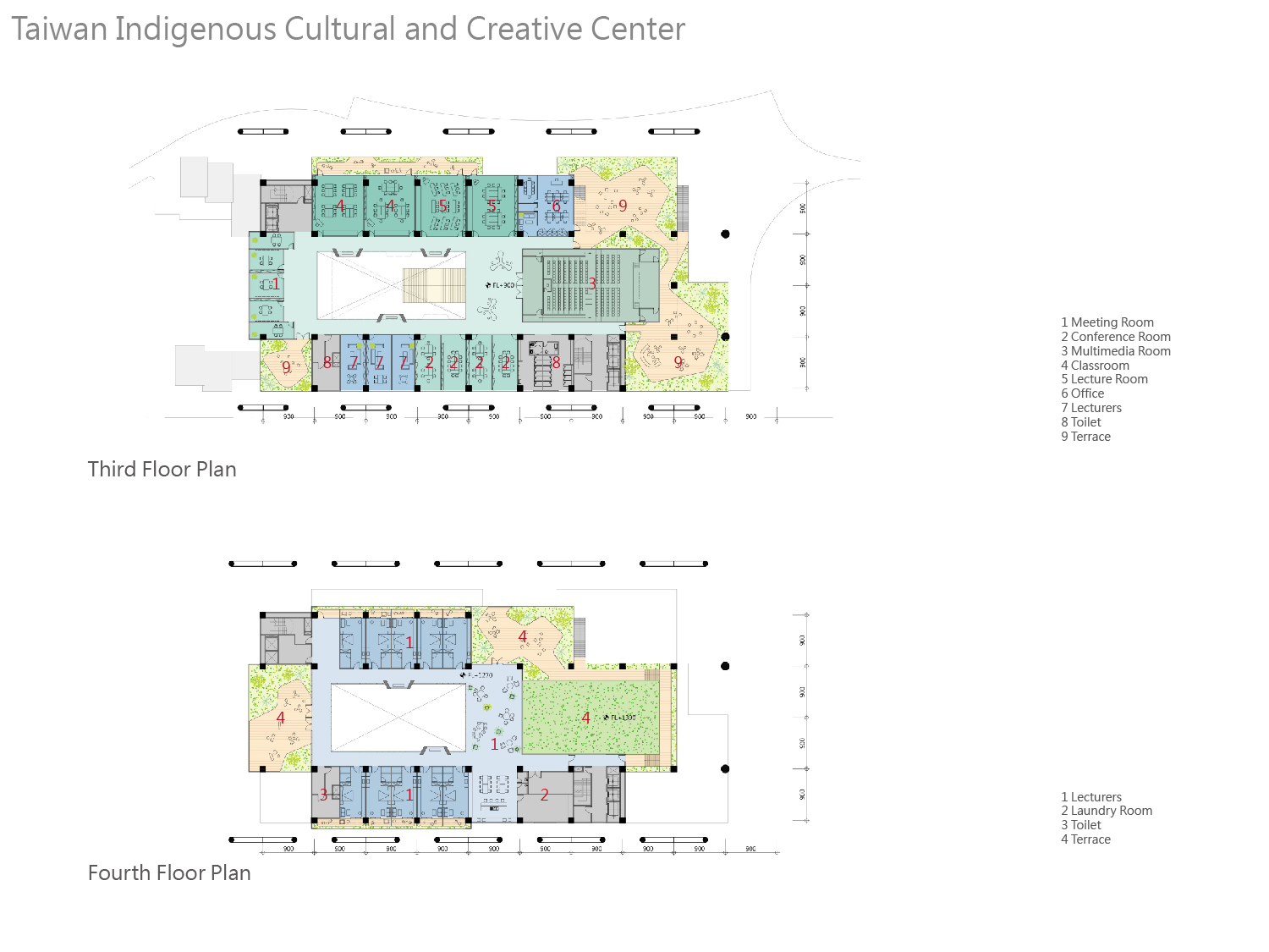 culture center 3rd & 4th floor plan J.A.Chen Architects & Associates}