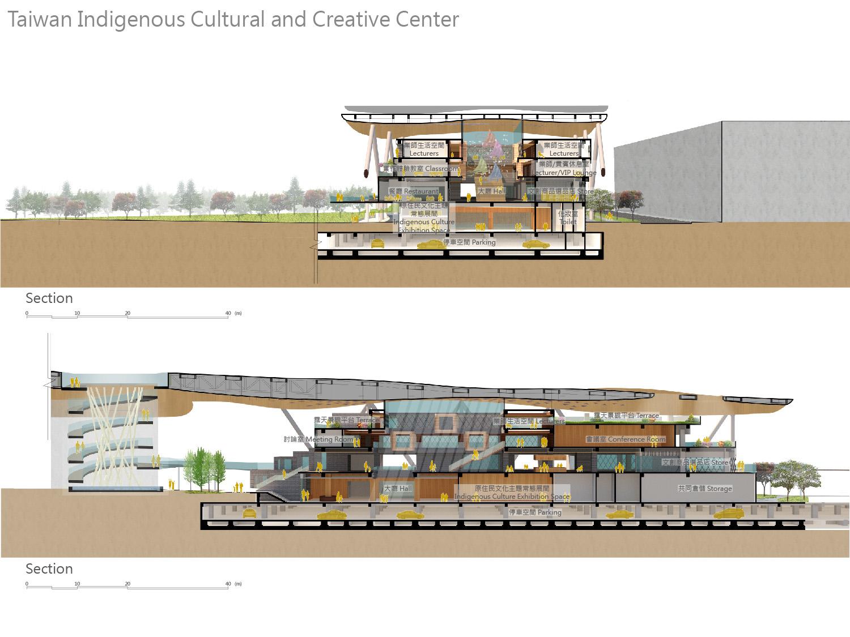 culture center section J.A.Chen Architects & Associates}