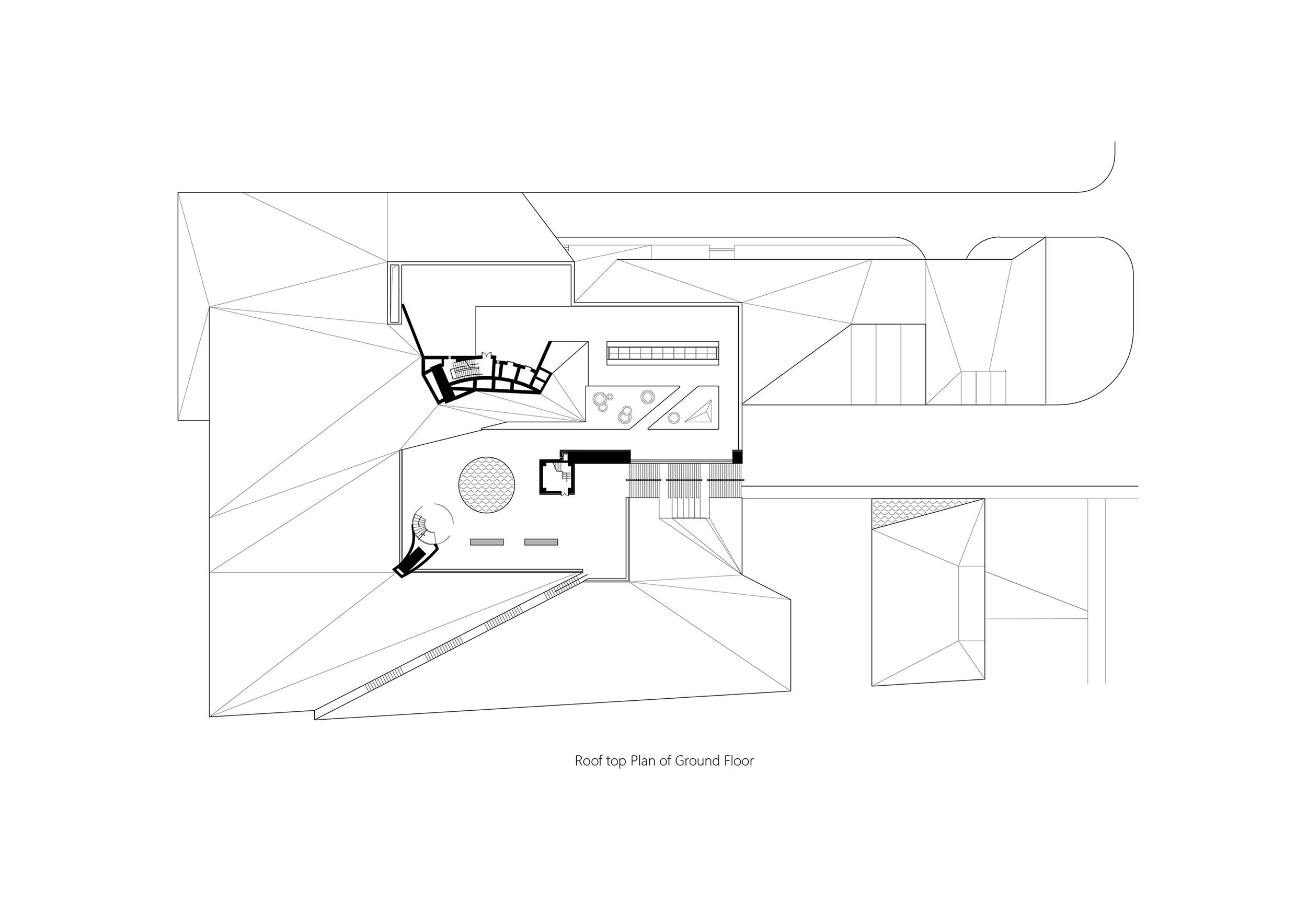 Roof top Plan of  Ground Floor Studio A+}