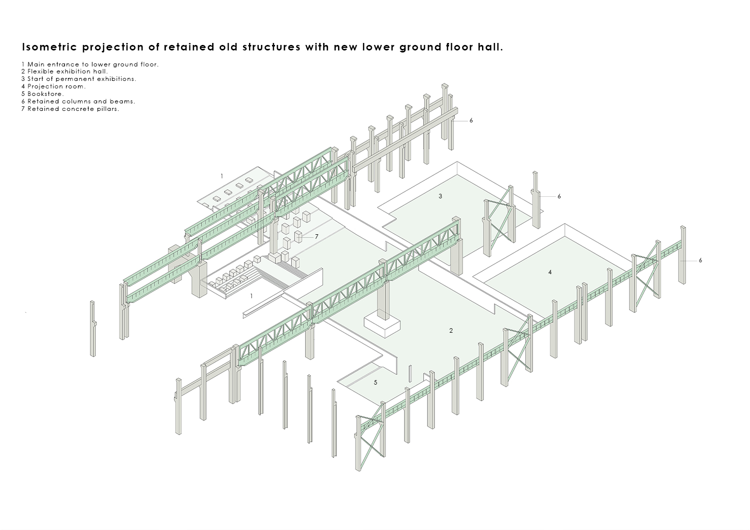 Isometric Projection - retained existing structures WallaceLiu}