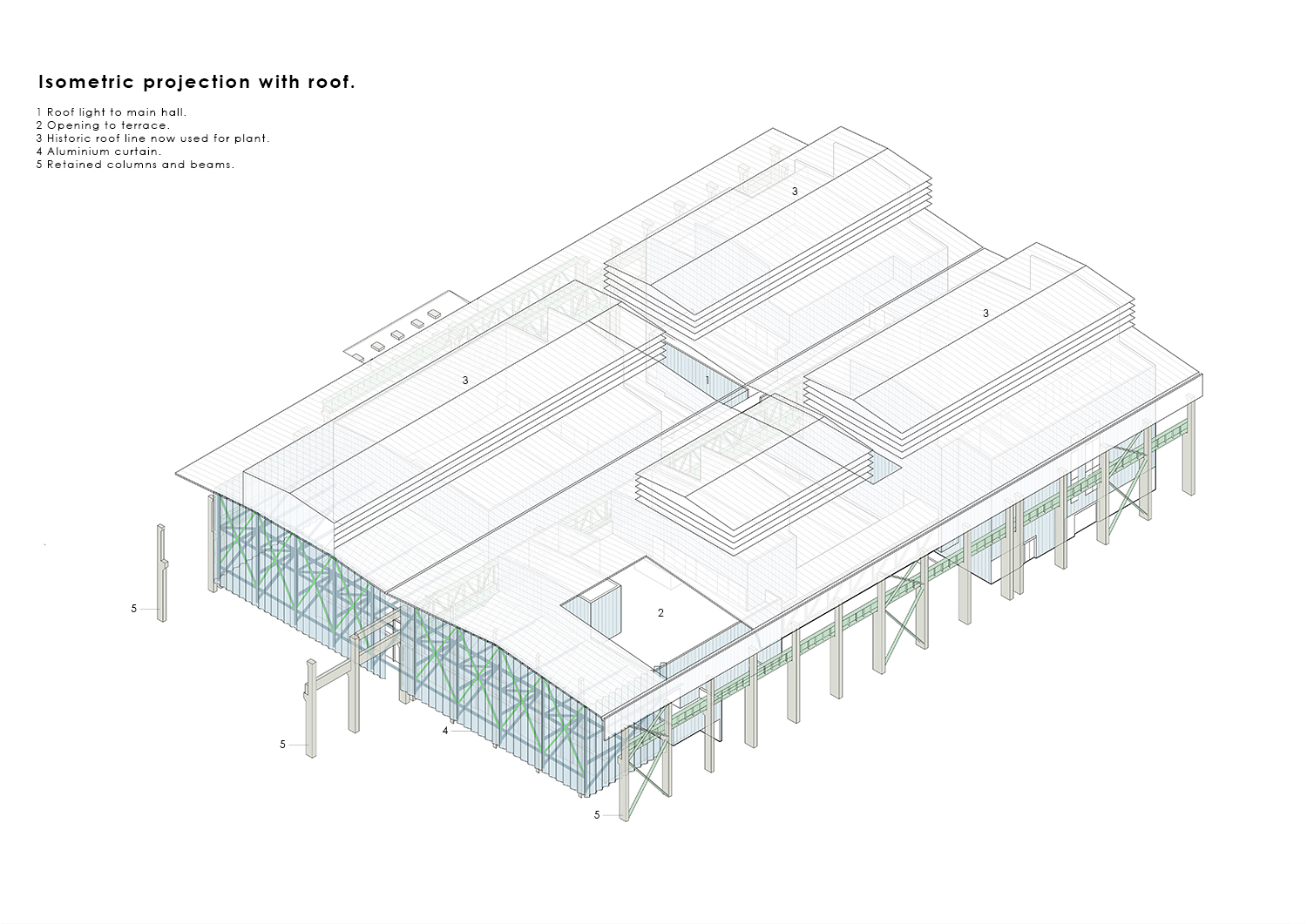 Isometric Projection - with roof WallaceLiu}