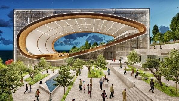 Kigali Genocide Memorial Amphitheatre Wall Corporation/Selim Senin