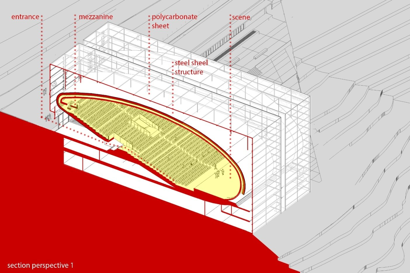 Section perspective Wall Corporation/Selim Senin}