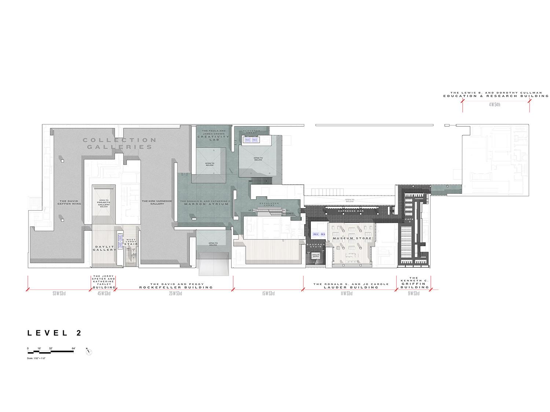 Level 2 Floor Plan, Museum of Modern Art Courtesy of Diller Scofidio + Renfro}