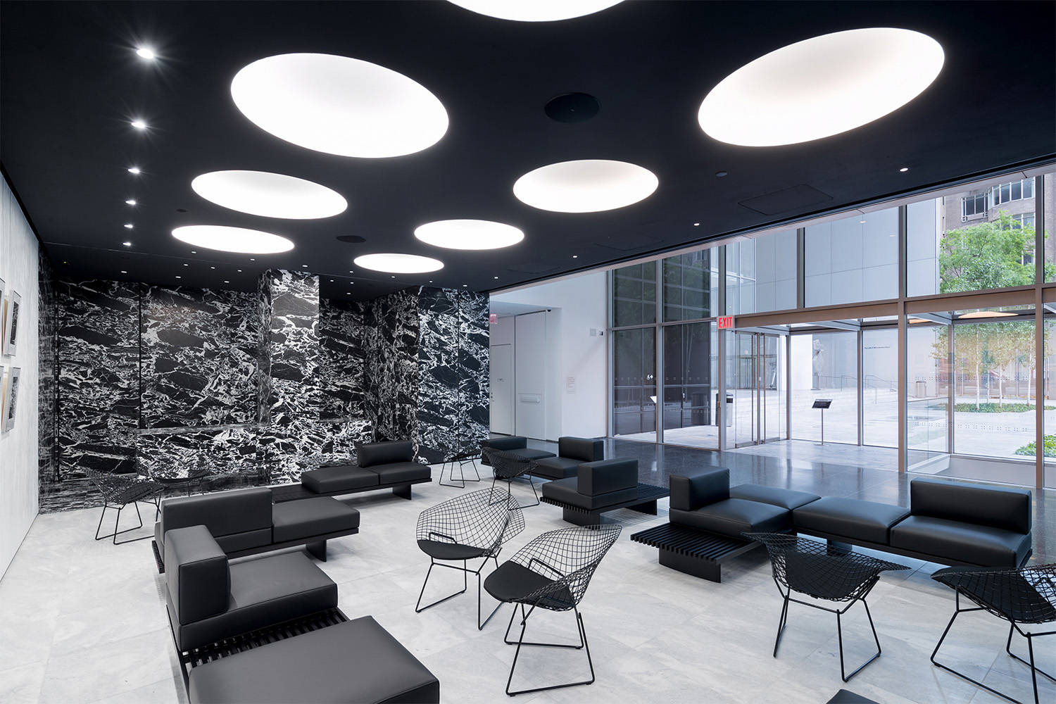 Interior view of The Museum of Modern Art, Hess Lounge Photography by Iwan Baan