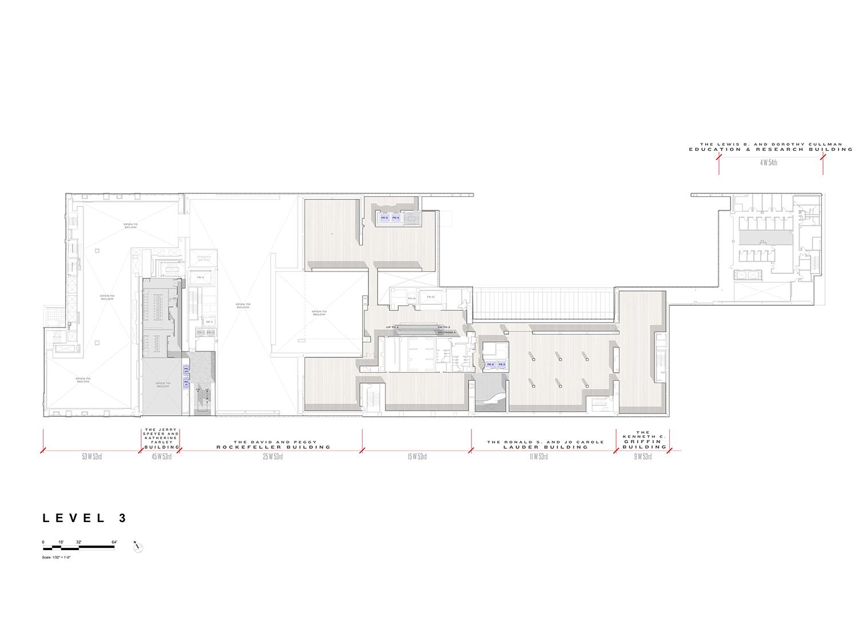 Level 3 Floor Plan, Museum of Modern Art Courtesy of Diller Scofidio + Renfro}