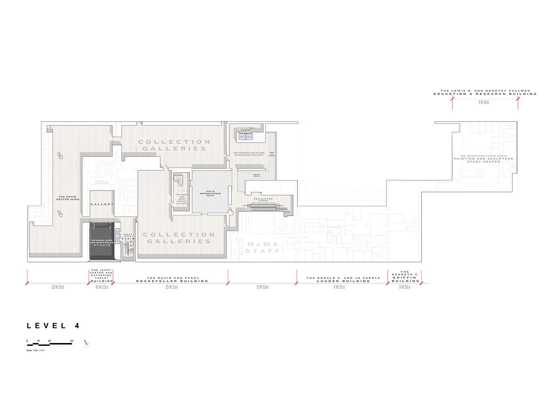 Level 4 Floor Plan, Museum of Modern Art Courtesy of Diller Scofidio + Renfro}