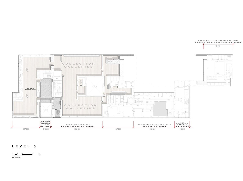 Level 5 Floor Plan, Museum of Modern Art Courtesy of Diller Scofidio + Renfro}