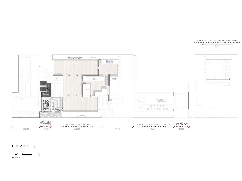 Level 6 Floor Plan, Museum of Modern Art Courtesy of Diller Scofidio + Renfro}