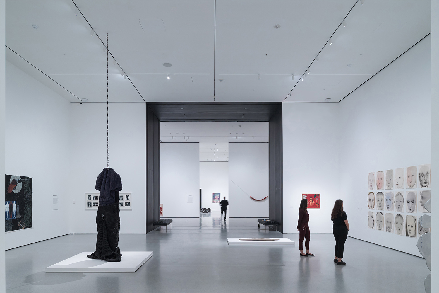 Installation View of David Geffen Wing gallery 206, Transfigurations, The Museum of Modern Art With view of Blackened Steel Portal Photography by Iwan Baan