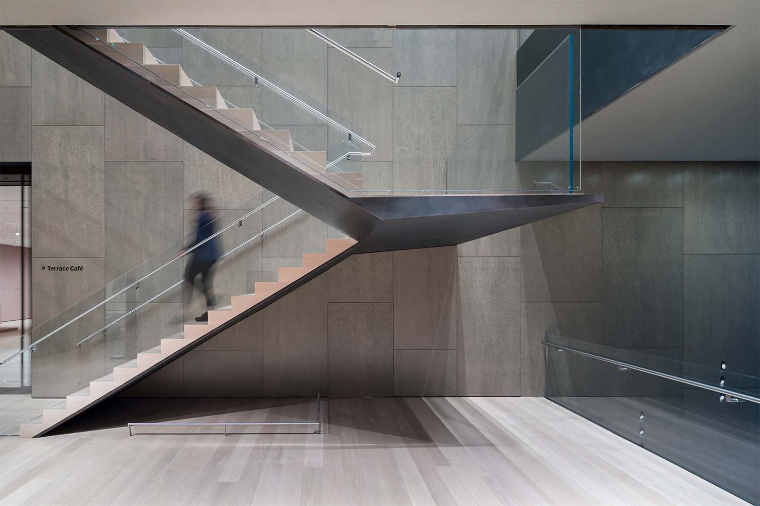 Interior view of The Museum of Modern Art, Fifth Floor Stair Photography by Iwan Baan