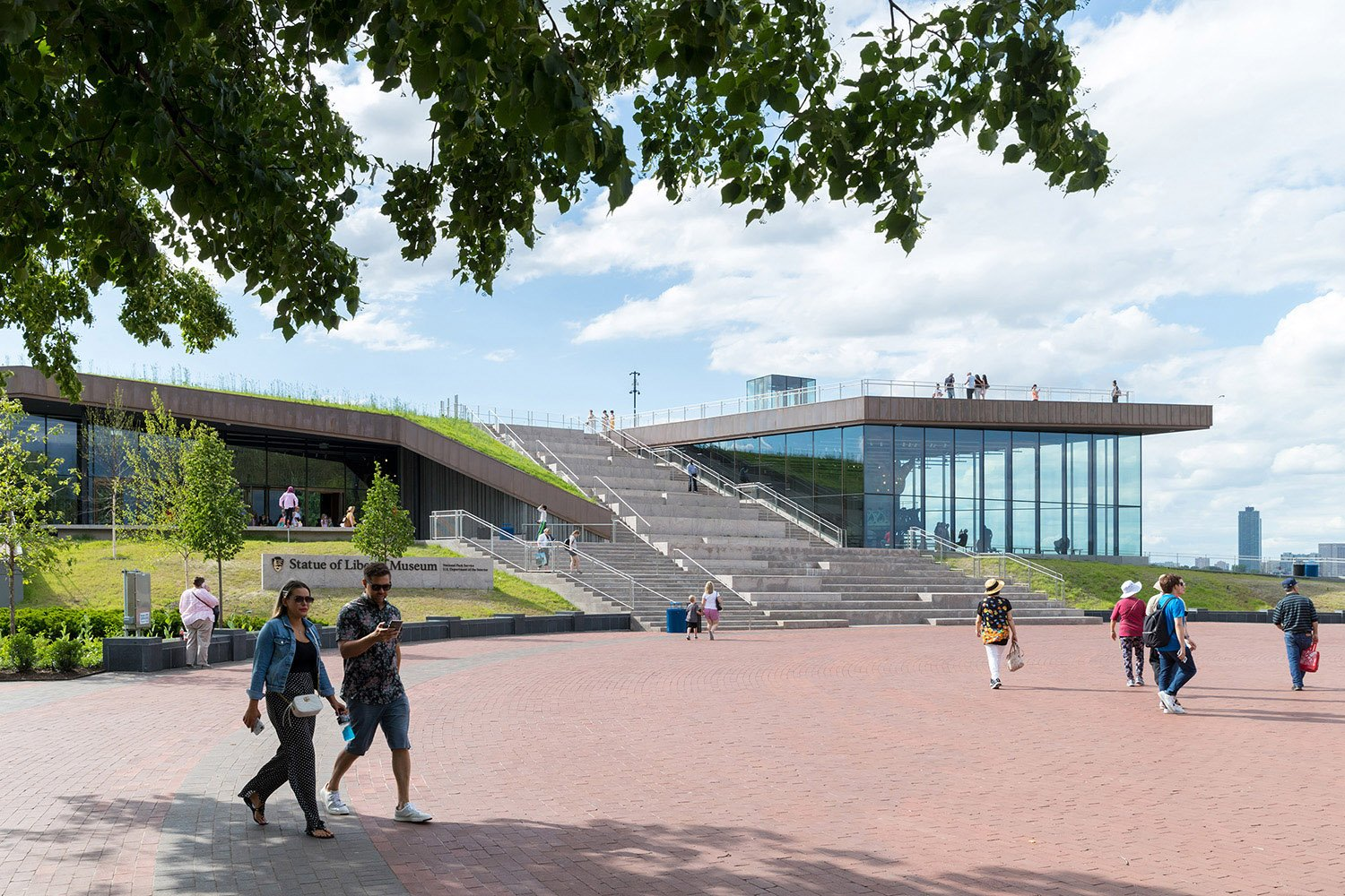 The Statue of Liberty Museum, viewed from the Flagpole Plaza. Copyright Iwan Baan