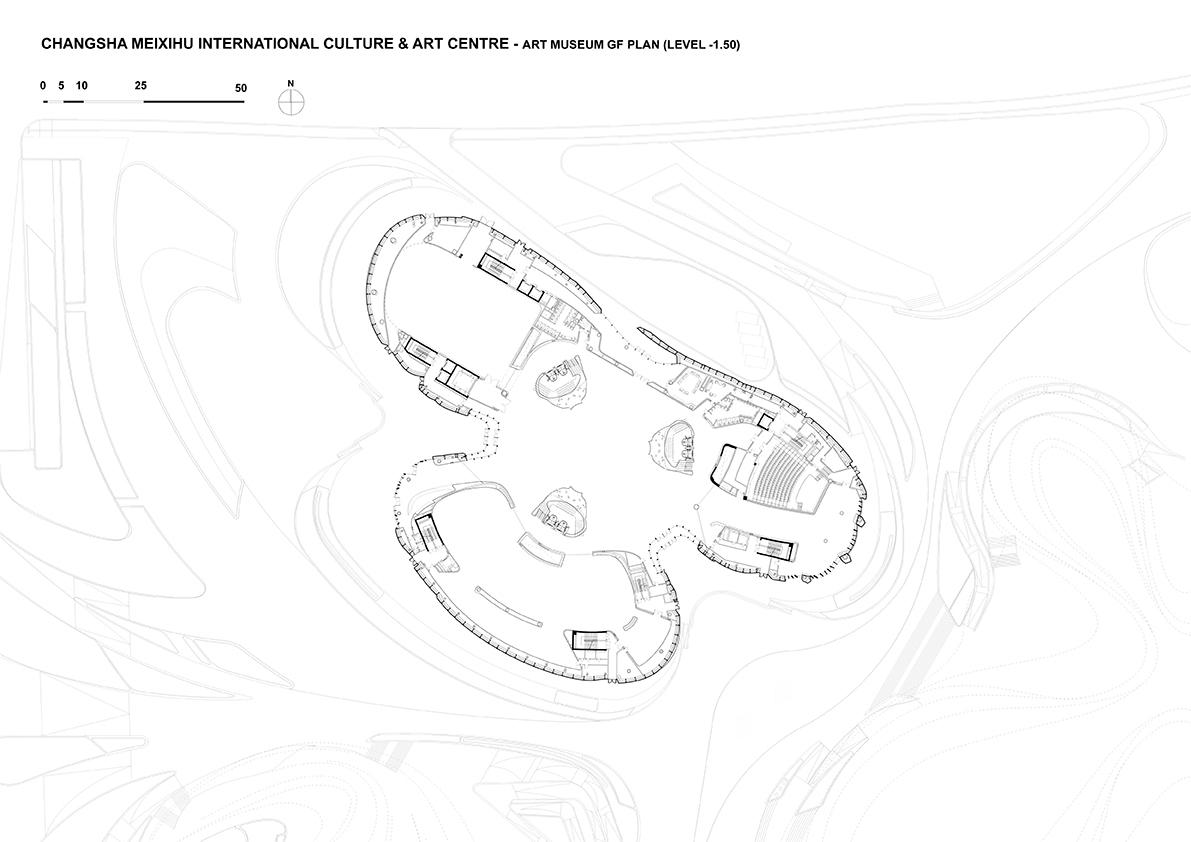 Art Museum Ground Floor © Zaha Hadid Architects}
