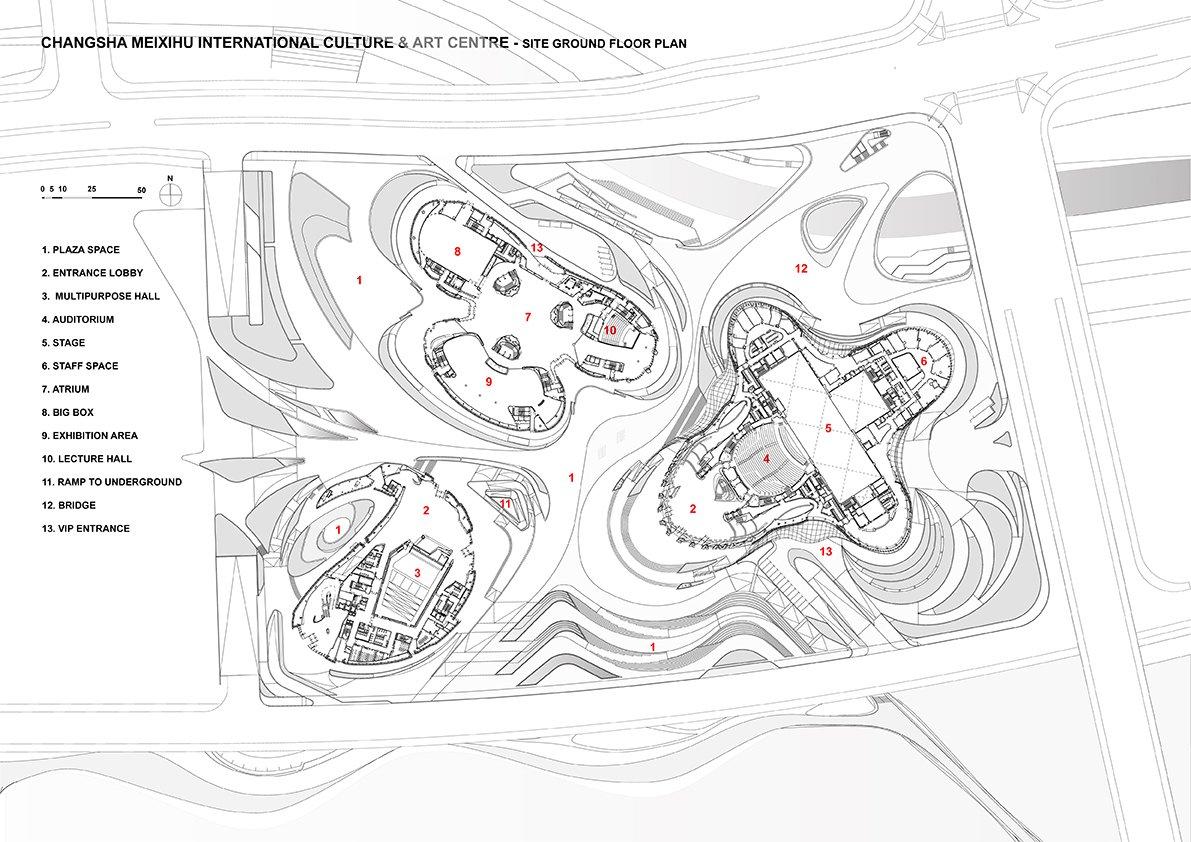 Site Ground Floor © Zaha Hadid Architects}