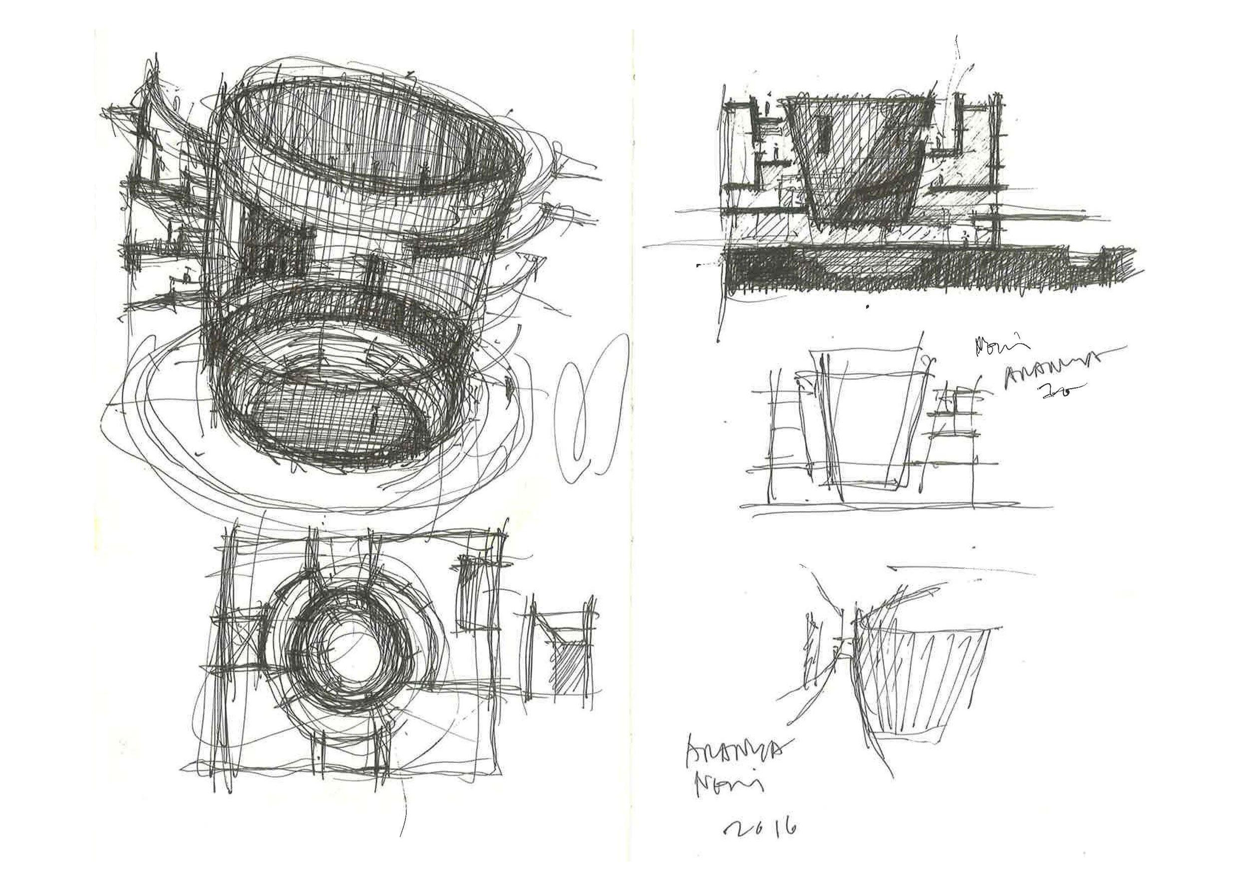 Aranya Art Center Sketch Lyndon Neri}