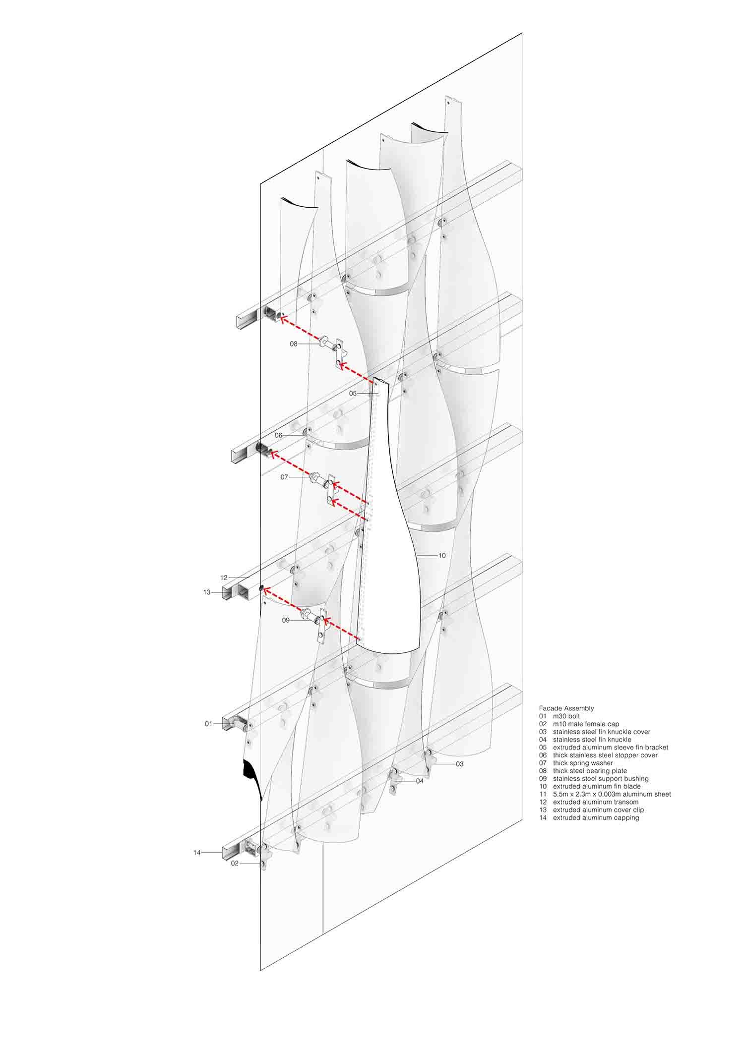 Xiqu Centre Façade Diagram Revery Architecture Inc.}