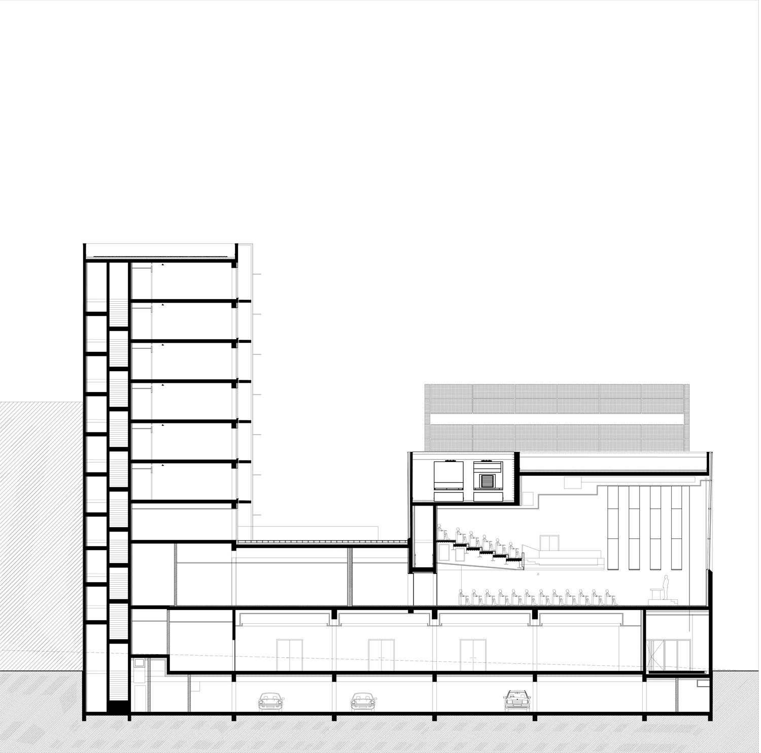 Longitudinal section 1 ©StéphaneMaupinArchitecture}