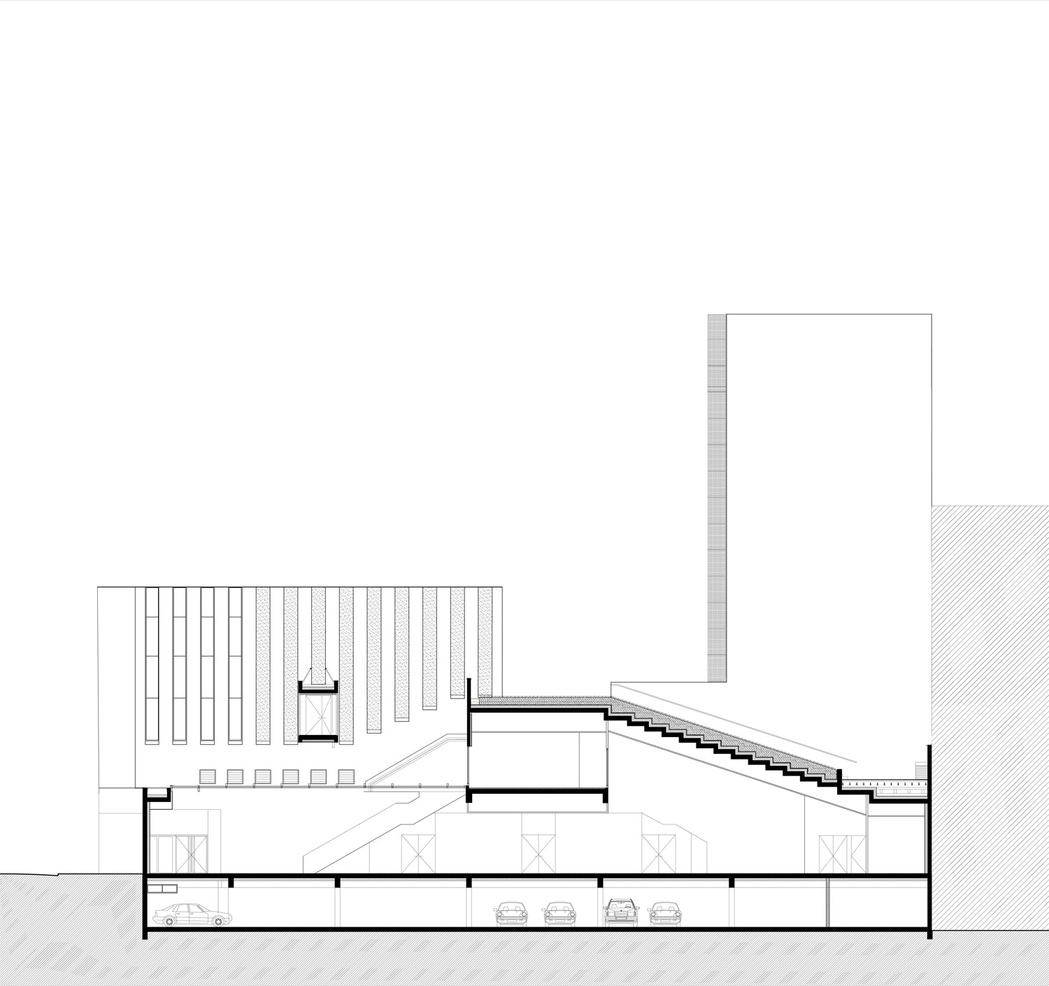 Longitudinal section 2 ©StéphaneMaupinArchitecture}