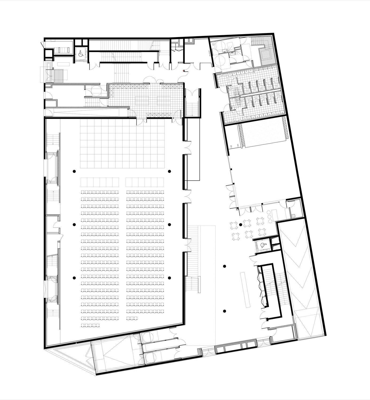 Plan groundfloor ©StéphaneMaupinArchitecture}