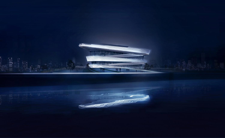 "Representative Landmark of Hangzhou's ""Water""Culture on the Qiantang Riverbank gad · line+ studio"