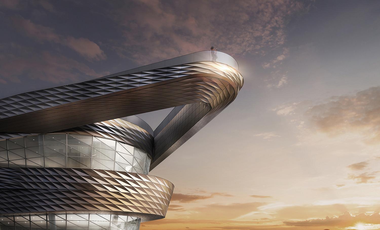 Large Scale Cantilevered Observation Platform gad · line+ studio
