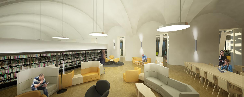 Sala lettura arti performative Area Progetti