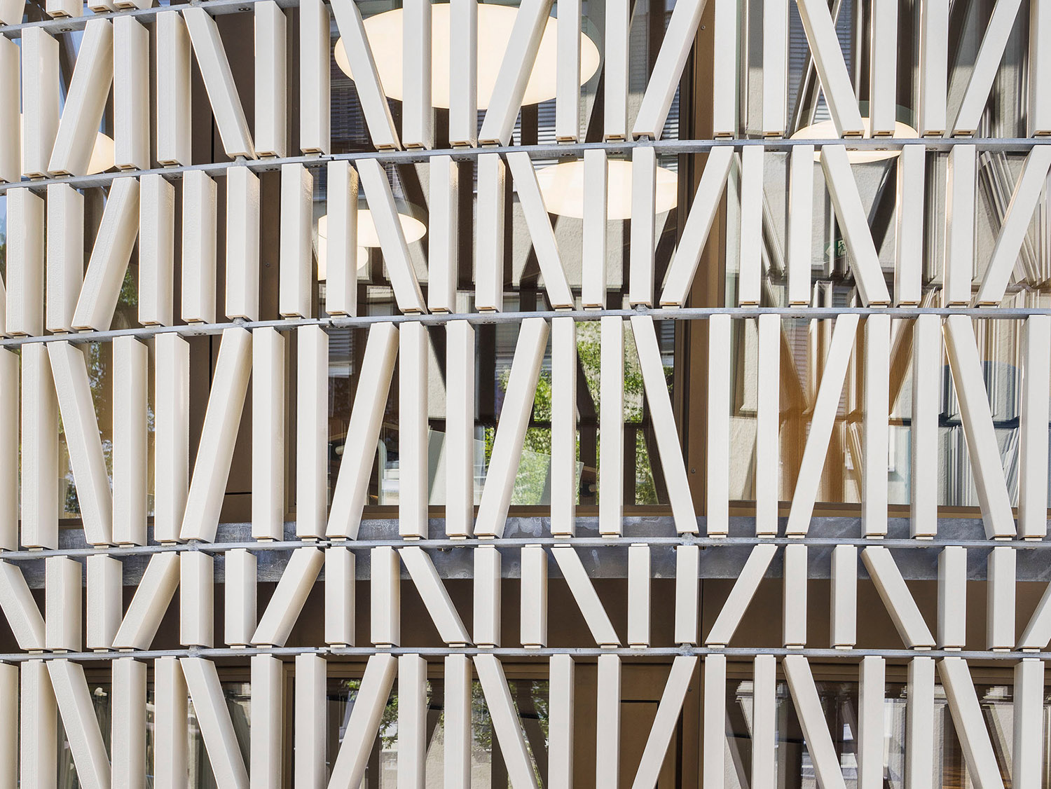 The ornaments are inspired by books arranged on shelves and brick patterns of old farm buildings. Albrecht I. Schnabel
