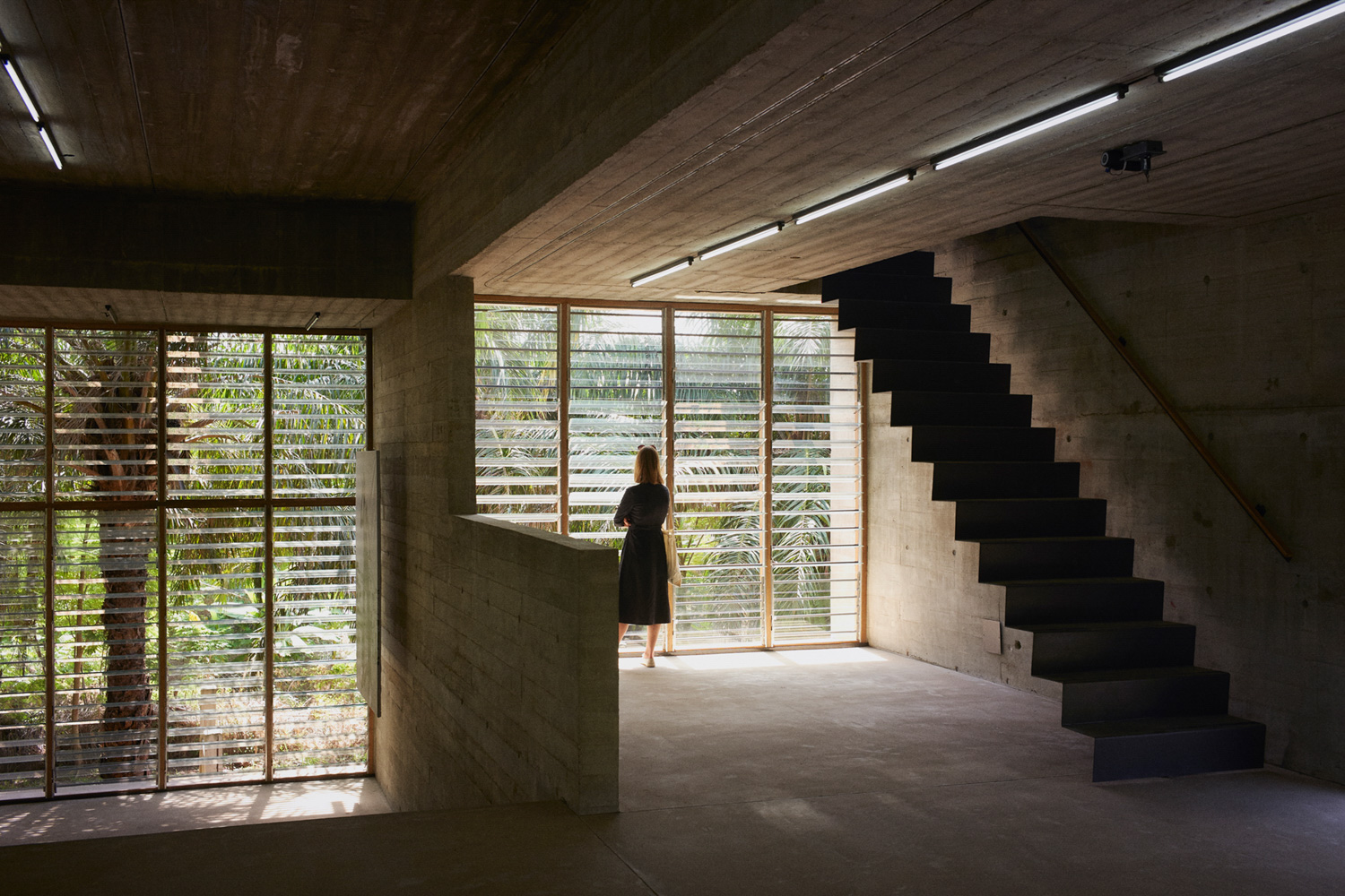 The split-level design creates a variety of spaces to be used by artists and curators Julien Lanoo