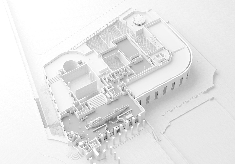 Axonometric view level 4 h2o architectes}