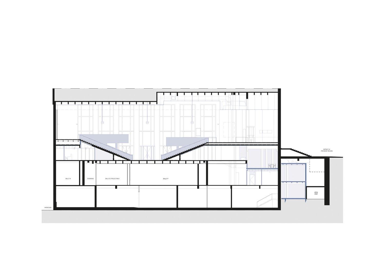 Longitudinal section 1 h2o architectes}