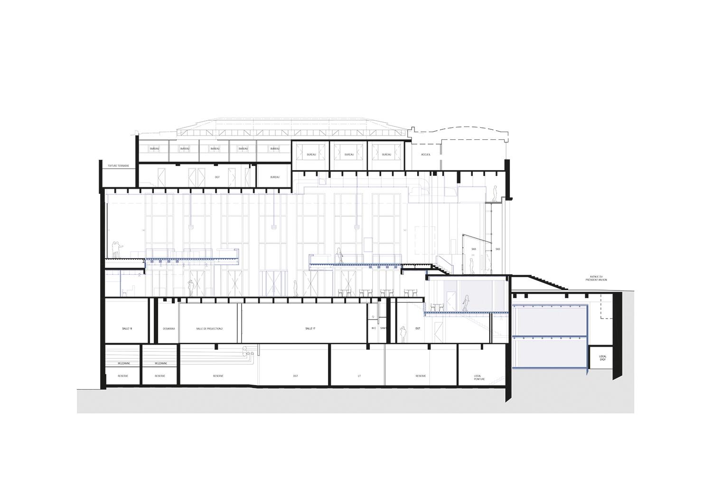 Longitudinal section 2 h2o architectes}