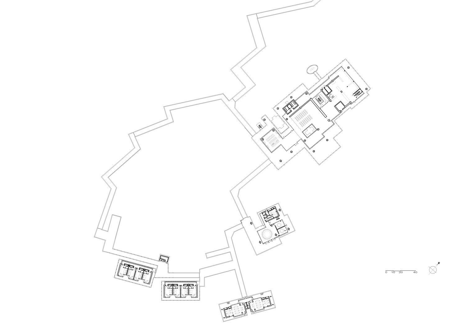 First Floor Plan of Wetland Research and Education Center Atelier Z+}