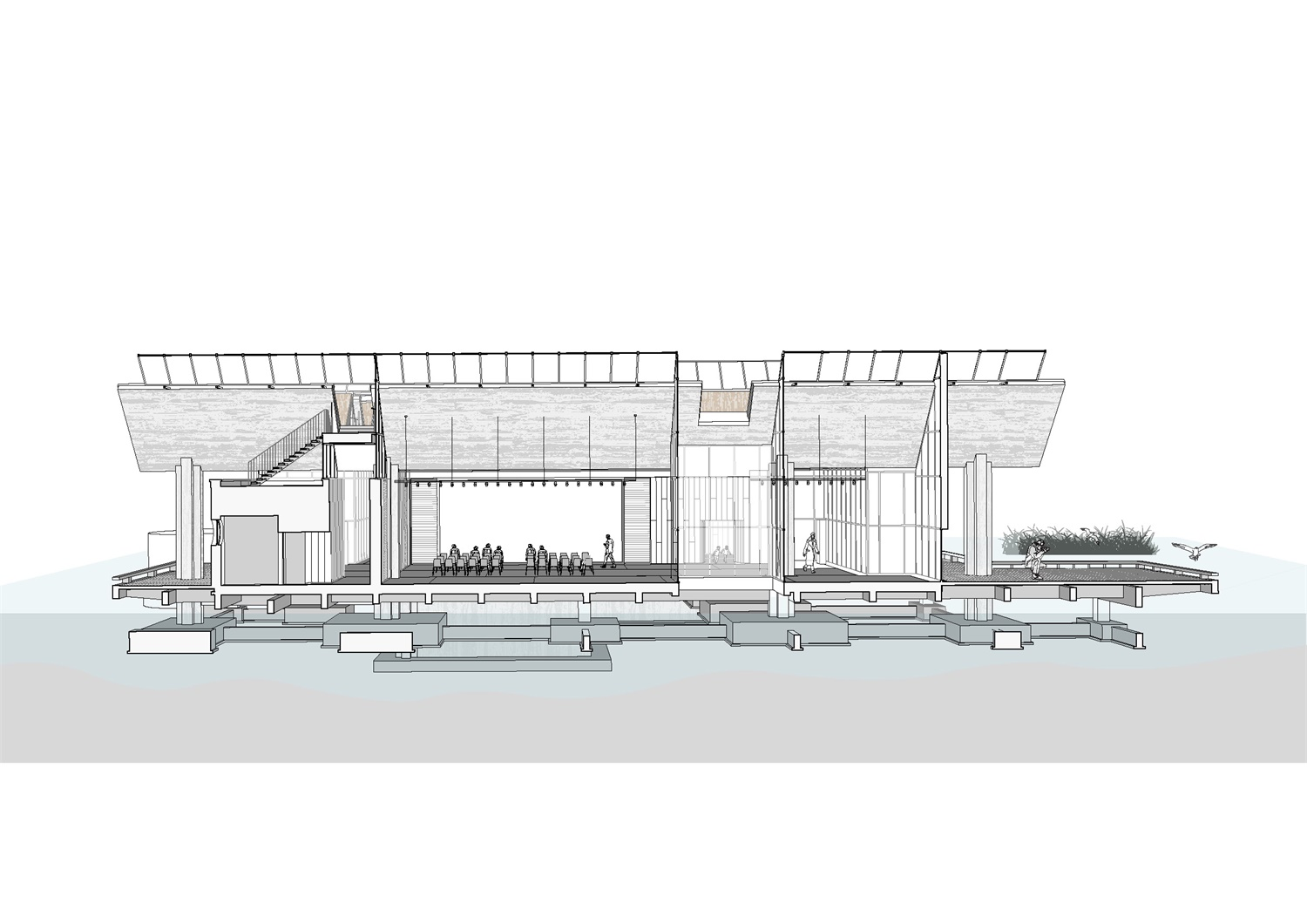 Perspective Section Atelier Z+}