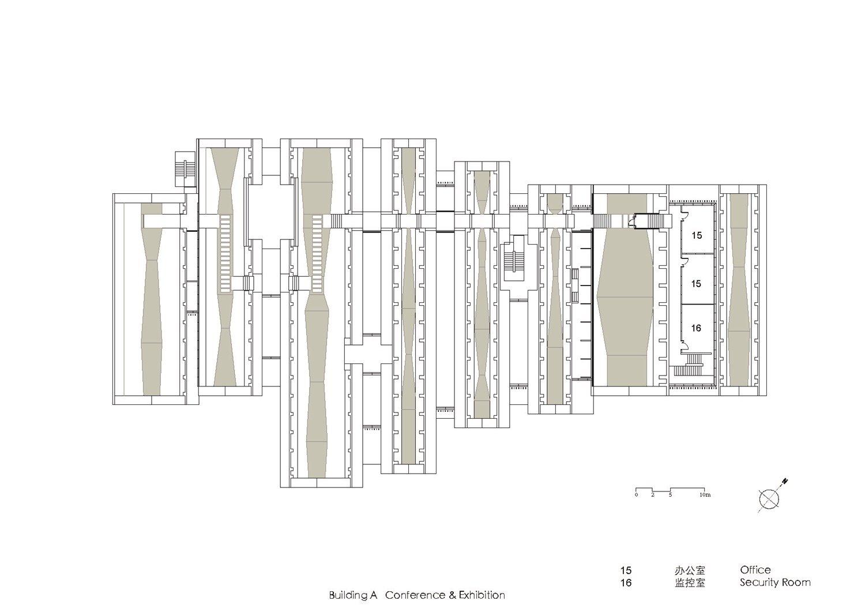 Mezzanine Plan of  Building A( Conference&Exhibition) Atelier Z+}