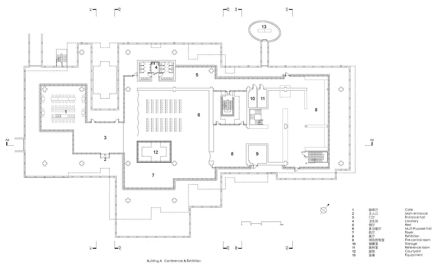 First Floor Plan of  building A( Conference&Exhibition) Atelier Z+}