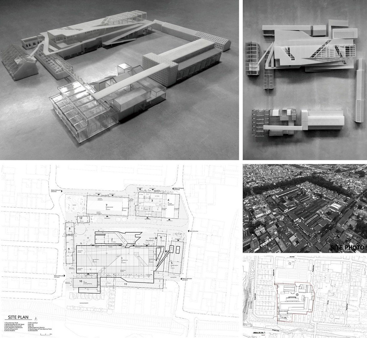 Dali Transformer Park Model, aerial view and the master plan Atelier Alter Architects}