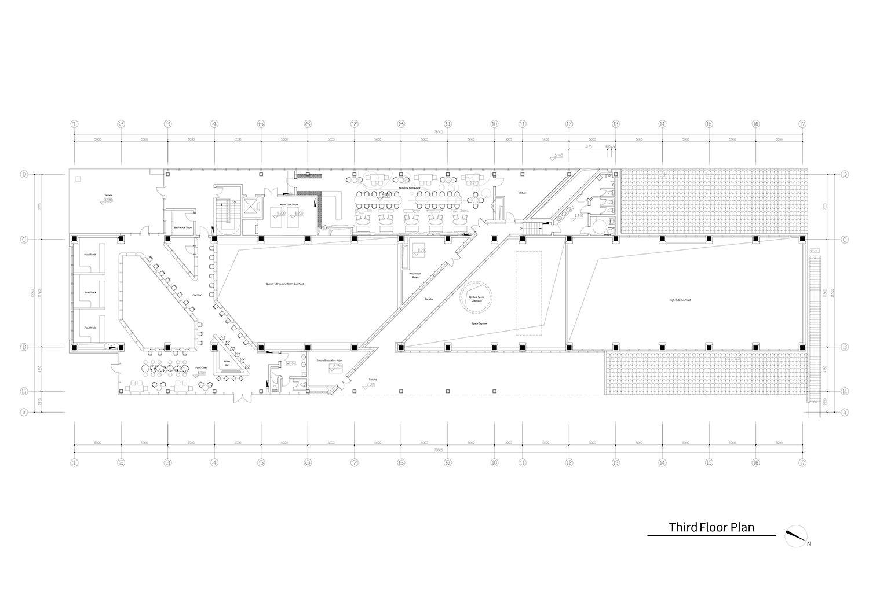 Third floor plan of the Dali Transformer Park Atelier Alter Architects}