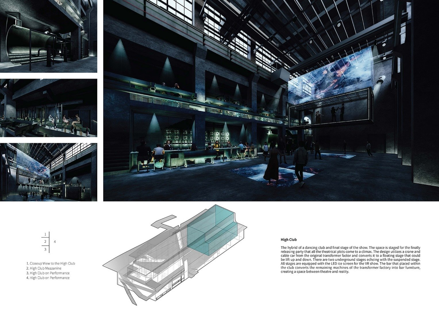 Interior rendering of the Dali Transformer Park Atelier Alter Architects}