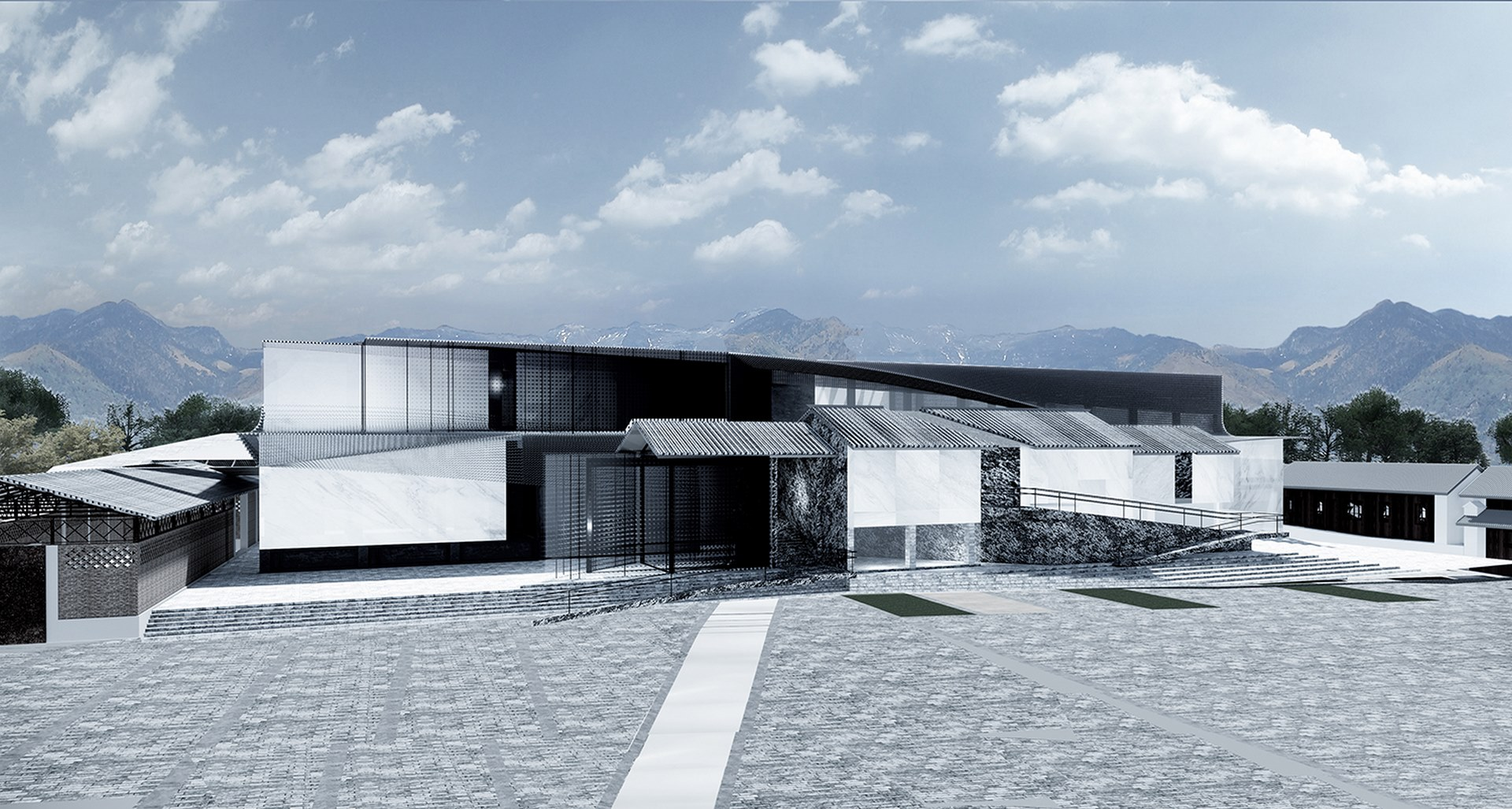 The south elevation of Dali Transformer Park Atelier Alter Architects