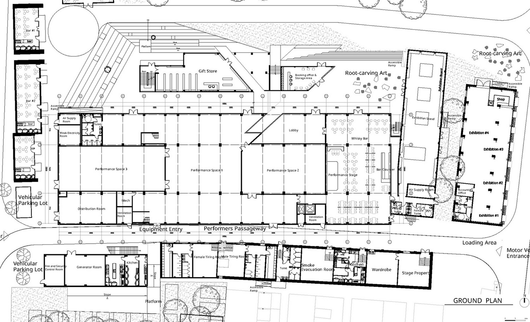 Ground plan of the Dali Transformer Park Theatrical District Atelier Alter Architects}
