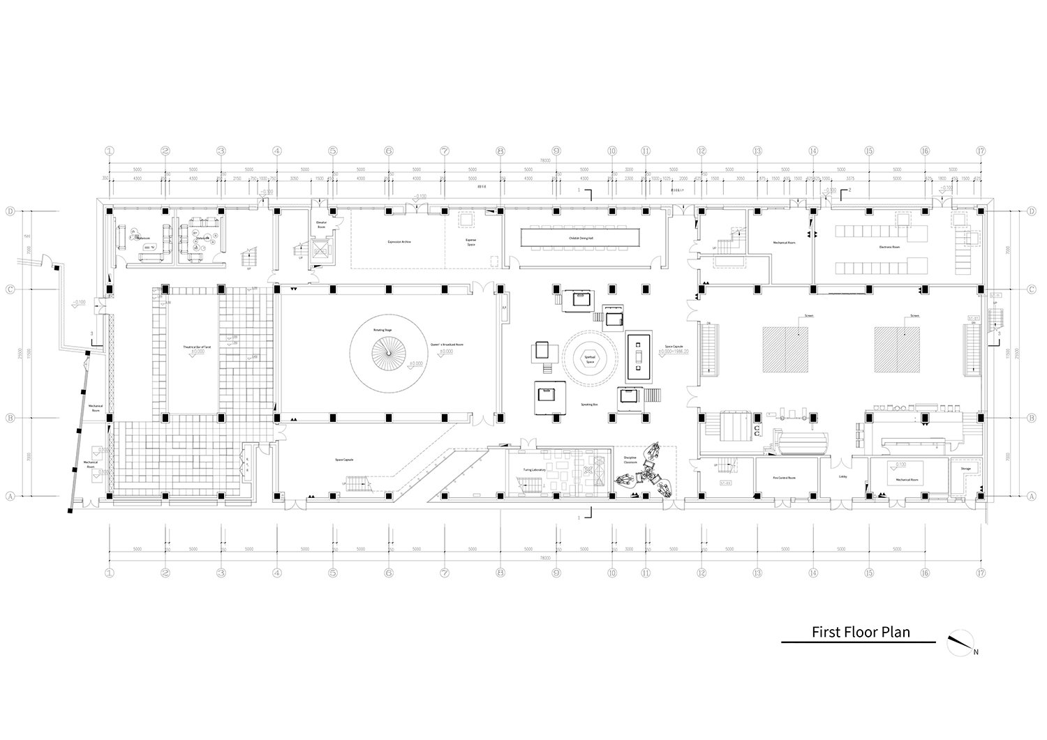 First floor plan of the Dali Transformer Park Atelier Alter Architects}