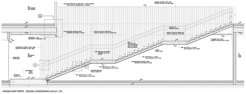 Particolare scala Roland Baldi architects}