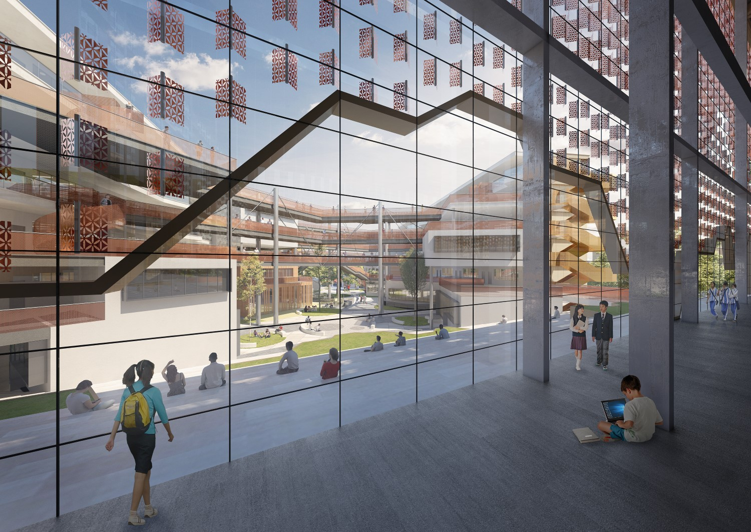 courtyard from library ELP DESIGN