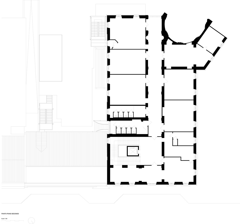 piano secondo (esistente) Archisbang + Area progetti}