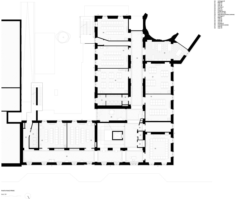 piano primo (progetto) Archisbang + Area progetti}