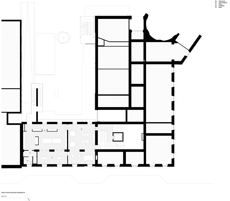 piano secondo ammezzato (progetto) Archisbang + Area progetti}