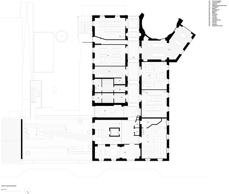 piano secondo (progetto) Archisbang + Area progetti}